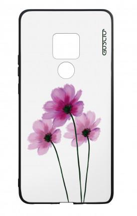 Cover Bicomponente Huawei Mate 20 - Fiori su bianco
