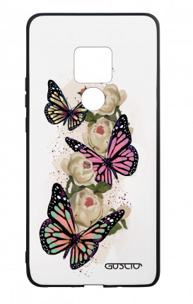 Huawei Mate20 WHT Two-Component Cover - Butterflies white