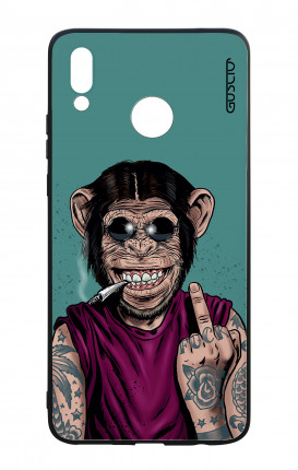 Huawei P Smart Plus WHT Two-Component Cover - Monkey's always Happy