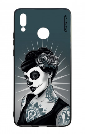 Huawei P Smart Plus WHT Two-Component Cover - Calavera Grey Shades