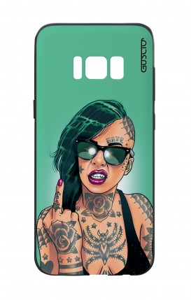 Samsung S8 White Two-Component Cover - Girl in Green