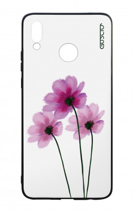 Huawei P Smart Plus WHT Two-Component Cover - Flowers on white