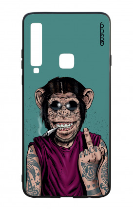 Samsung A9 2018 WHT Two-Component Cover - Monkey's always Happy
