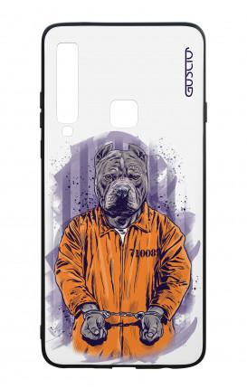 Cover Bicomponente Samsung A9 2018 - Cane carcerato bianco