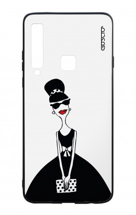 Samsung A9 2018 WHT Two-Component Cover - Miss with Handbag