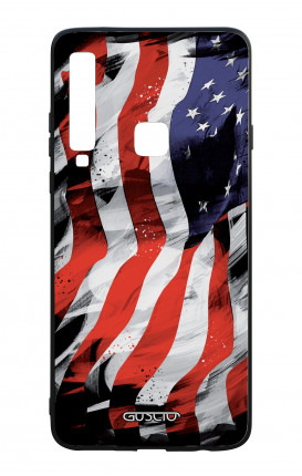 Samsung A9 2018 WHT Two-Component Cover - Used America Flag