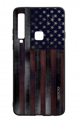 Cover Bicomponente Samsung A9 2018 - Bandiera americana scura