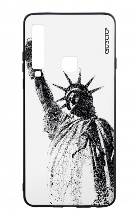 Samsung A9 2018 WHT Two-Component Cover - Statue of Liberty