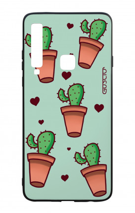 Samsung A9 2018 WHT Two-Component Cover - Cactus Pattern