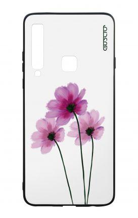 Cover Bicomponente Samsung A9 2018 - Fiori su bianco