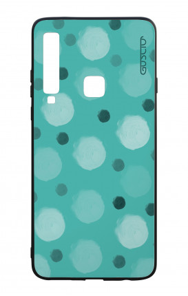 Samsung A9 2018 WHT Two-Component Cover - Tiffany Polka dot