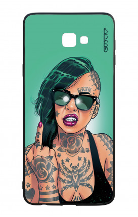 Samsung J4 Plus WHT Two-Component Cover - Girl in Green