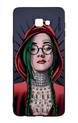 Samsung J4 Plus WHT Two-Component Cover - Red Hood Girl
