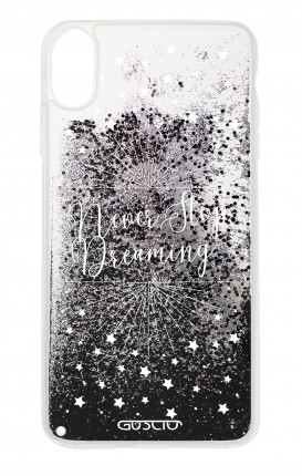 Cover GLITTER Liquid Apple iPhone XS MAX BLACK - Never Stop Dreaming