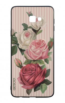 Cover Bicomponente Samsung J4 Plus - Rose e righe