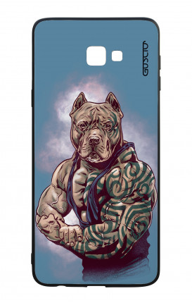 Samsung J4 Plus WHT Two-Component Cover - Pitbull Tattoo