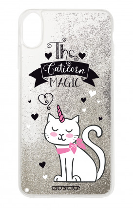 Cover GLITTER Liquid Apple iPhone XS MAX SILVER - Caticorn