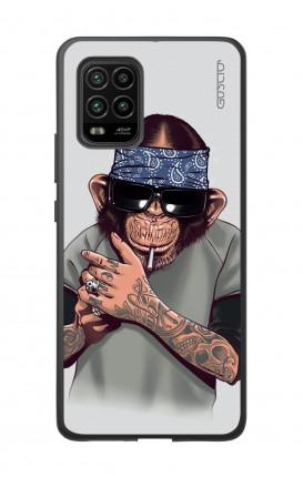 Cover Bicomponente Xiaomi MI 10 LITE 5G - Scimpanze con bandana