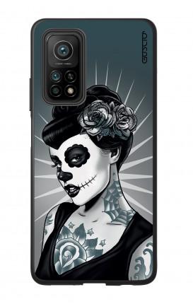 Cover Bicomponente Xiaomi MI 10T PRO - Calavera bianco e nero