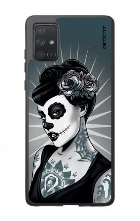 Cover Bicomponente Samsung A71 - Calavera bianco e nero