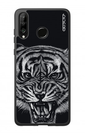 Huawei P30Lite WHT Two-Component Cover - Black Tiger
