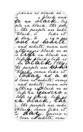 Cover TPU HUAWEI P SMART - Scritte in bianco e nero