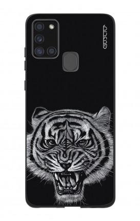 Case Bicomponente Samsung A21s - Tigre nera