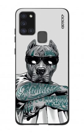 Case Bicomponente Samsung A21s - Pitbull tatuato