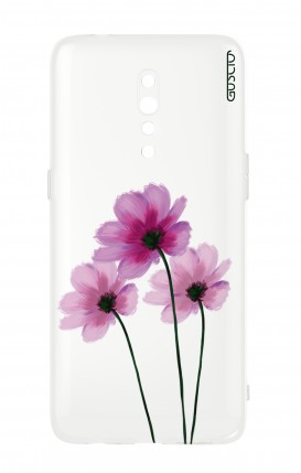 Cover Oppo Reno Z - Flowers on white