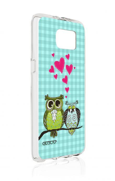 Cover TPU Samsung Galaxy S7 - Uccellini innamorai azzurro