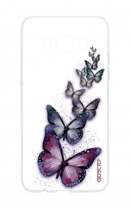 Cover TPU Samsung Galaxy J7 2016 - Volo di farfalle