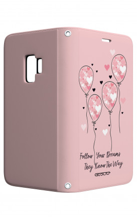 Cover STAND SAMSUNG A6 - Palloncini rosa