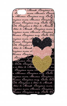 Apple iPhone 6 WHT Two-Component Cover - Hearts on words