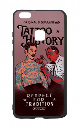 Huawei P9Lite White Two-Component Cover - Tattoo History
