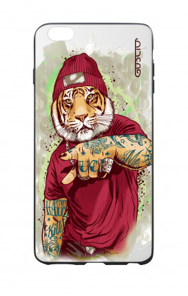 Cover Bicomponente Apple iPhone 6 Plus - Tigre Hip Hop bianco