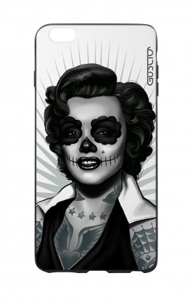 Cover Bicomponente Apple iPhone 6 Plus - Marilyn Calavera bianco