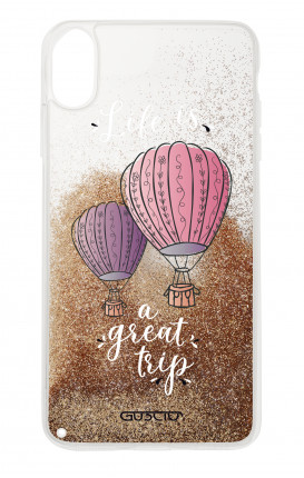 Cover GLITTER Liquid Apple iPhone XS MAX GOLD - Mongolfiere