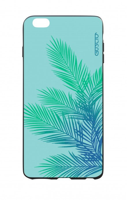 Cover Bicomponente Apple iPhone 6 Plus - Foglie azzurre