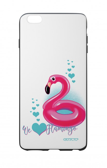Apple iPhone 6 PLUS WHT Two-Component Cover - We Love Flamingo