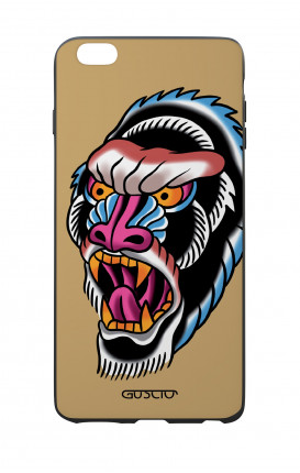 Apple iPhone 6 PLUS WHT Two-Component Cover - Ape Tattoo on ochre