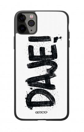 Cover Bicomponente Apple iPhone 11 PRO MAX - Scritte e cuori bianco e nero