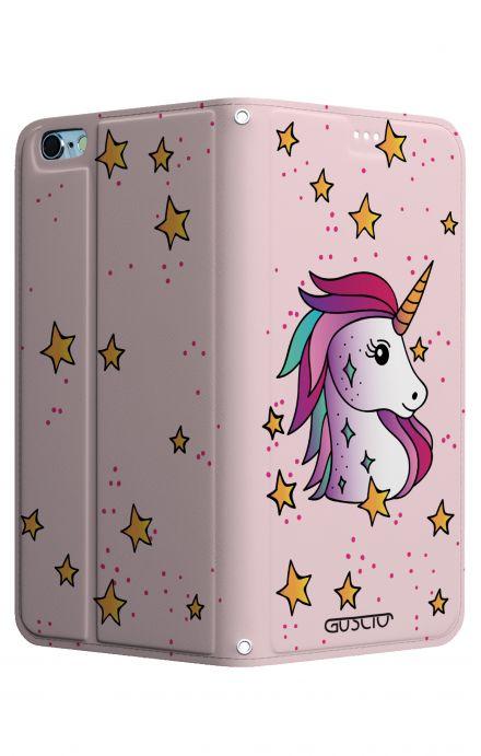 Cover STAND Apple iPhone7/8 - Unicorno e stelle