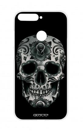 Cover TPU HUAWEI P SMART - Dark Calavera Skull