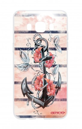 Cover Samsung Galaxy J5 - Anchor and flowers