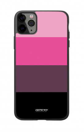 Apple iPhone 11 PRO Two-Component Cover  - Pink Stripes