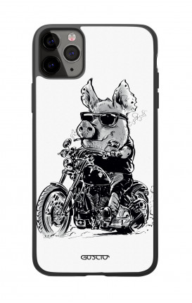 Apple iPhone 11 PRO Two-Component Cover  - Biker Pig