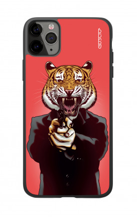 Apple iPhone 11 PRO Two-Component Cover  - Tiger with Gun