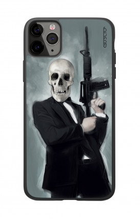 Apple iPhone 11 PRO Two-Component Cover  - Skull with Tommy-Gun