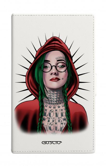 Cover Universal Casebook size2 - Cappuccio rosso tatuata bianco