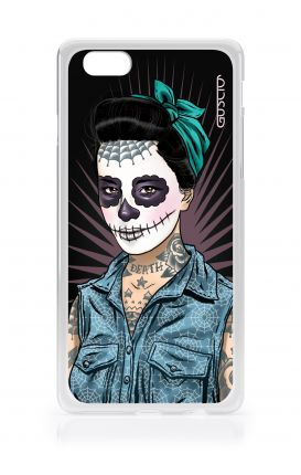 Cover TPU Apple iPhone 6/6s - Calavera con camicia